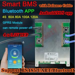Smart BMS 4S 60A 80A 100A 120A 12V Lifepo4 Battery Protection PCB Bluetooth APP
