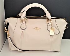 New COACH Collette Satchel Handbag Smooth Leather Chalk F58410 & COACH Bag