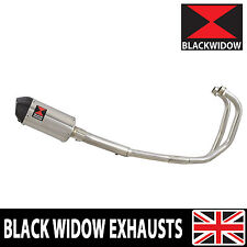 KAWASAKI GPZ 500 GPZ500S EX500 2-1 EXHAUST SYSTEM OVAL SILENCER/CARBON TIP 200ST