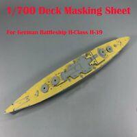 1/700 Échelle Deck Masking Sheet Pour German Battleship H-Class H-39 DIY Ship