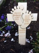 Personalised Baby Memorial Remembrance Cross Funeral