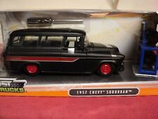 Jada 1957 Chevrolet Suburban  1/24 scale  NiB  2015 release satin black