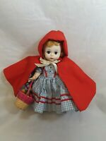 "Vintage Madame Alexander Doll Red Riding Hood 7"" Tall"