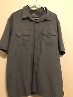 Croft & Barrow Grey X Large Lightweight Quick Dry Vented Shirt