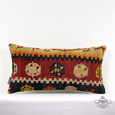 Oriental Kilim Pillow Turkish Lumbar Pillowcase Vintage Sofa Couch Throw Cushion