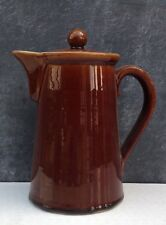 Denby Bourne Homestead brown glazed coffee pot 1950s