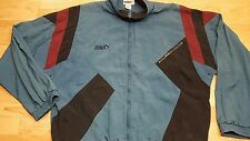 Vintage Nylon Puma Track Jacket Windbreaker Men's Size XL Green Black