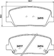 Mintex Front Brake Pad Set MDB3282  - BRAND NEW - GENUINE - 5 YEAR WARRANTY
