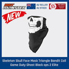Triangle Bandit Skeleton Skull Face Mask for Military Paintball Army Scouts camp