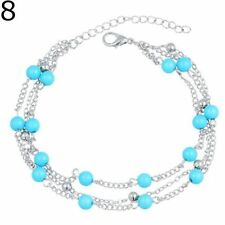 Epic Fashion- Snow Beads Turquoise Bracelet-Anklet