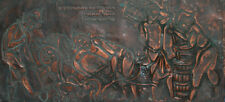 Antique Wall Decor Copper Plaque Rural Figures