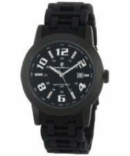 Smith & Wesson Mens Sww-1519 Recoil Black Glowing Dial Plastic Band Watch