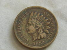 1859 Indian Head Penny old US one cent coin