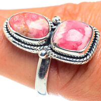 Rhodochrosite 925 Sterling Silver Ring Size 8.5 Ana Co Jewelry R58872F