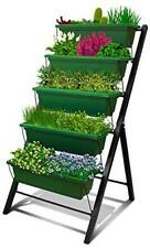 New listing 4Ft Vertical Raised Garden Bed - 5 Tier Food Safe 1 Forest Green, 1-pack
