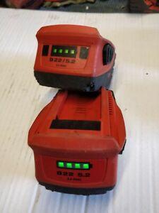 1  Batterie hilti B 22 en 5,2Ah en TBE ( batteria , battery , akku)