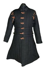Women Gambeson with Laced Sleeves - Female Armor Costume