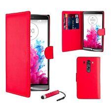 Fundas y carcasas color principal rojo de piel sintética para teléfonos móviles y PDAs LG