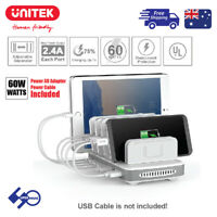 Charging Station 60W 7Port USB Apple/Andriod Fast Charge Hub Office/Home PW10009