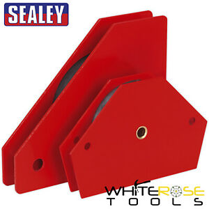 Sealey Magnetic Quick Clamp Set 2pc Metal Holder Welding Arrow Clamps Angled