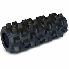 Grid Rumble-Type Roller, Half Size 36cm - compact, deep tissue relief, BLACK