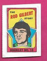 1971-72 TOPPS RANGERS ROD GILBERT  BOOKLET INSERT (INV# D1314)