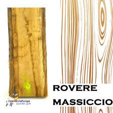 LEGNO STAGIONATO ROVERE MASSICCIO GREZZO CON CORTECCIA SCULTURE VERTICALE SP 5cm