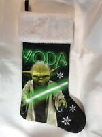 Star Wars Yoda Black & Green Satin Christmas Stocking