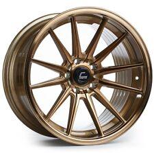 Cosmis R1 18x9.5/10.5 5x114.3 +35/30 Bronze Rims Fits 350Z 370Z 240Sx G35 Coupe