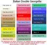 Double Georgette (4x5cm sample colour testers & per metre purchasing)