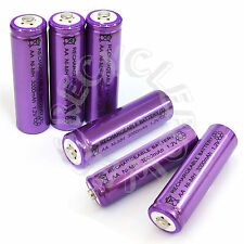 6 x AA LR6 UM3 3000mAh Ni-MH Rechargeable Battery Purple Cell 2A