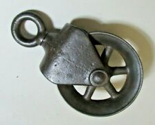 Vintage metal pulley (my #6) - 10 iinch overall - refurbished but for decor