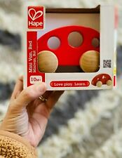 Hape Mini Van, Red, Baby Toy, 10 Months+, Wooden Toys