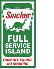 Sinclair Full Service USA Tankstellen Vintage Design Metall Werbung Plakat