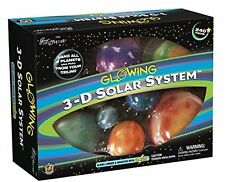 3D Solar System Glow In The Dark Planets Stars For Kids NEW FREE SHIPPING