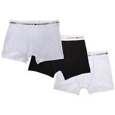 Tommy Hilfiger Men's CottonStretch 3 Pack Boxer Trunk Underwear Black/White/Grey
