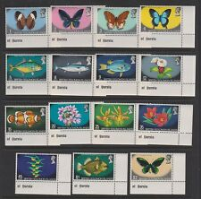 SOLOMON ISLANDS 232-246 Butterflies, flowers, fish MNH
