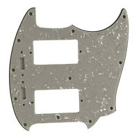 For Fender 4 Ply Mustang With PAF humbucker pickups Guitar Pickguard,White Pearl