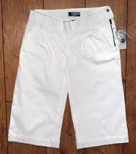 Bnwt Women's Oakley Stretch 3/4 Capri Pants Jeans Trousers UK8 White Bite Gaucho