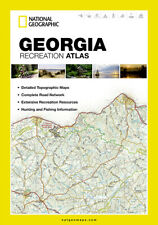 National Geographic Georgia GA Recreation Atlas Map Road & Topo Maps ST01020700