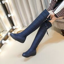 664eacd008c Plus-Size Long Snow Boots Women s Over Knee Warm Down Waterproof Pull-on  Shoes