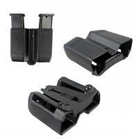 US Dual Mag Holster Quick Draw Double Stack Mag Pouch Holder For 9mm to .45 cal