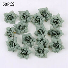 50 PCS Artificial Rose Heads Flower Silk Bulk Party Wedding Fake Bouquet Decor