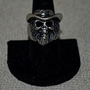 Stainless Steel Monkey? Sheriff Skull Ring