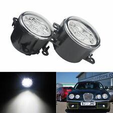 2x 9 LED Round Front Fog Lights DRL For Ford C-MAX Fiesta Focus Transit MK7 MK8