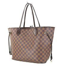 Authentic LOUIS VUITTON Neverfull MM Damier Ebene Tote Bag Purse #34370