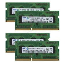 RAM 4GB For Samsung 4PCS 1GB 1RX8 PC3-10600S DDR3 1333Mhz Laptop Memory SODIMM #