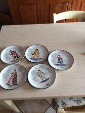 Rarissima collezione piatti maschere carnevale albisola g.mazzoti da collezione