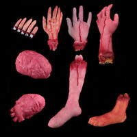 NEW Bloody Horror Scary Halloween Prop Fake Severed Lifesize Arm Hand Haunted---
