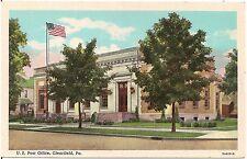 U.S. Post Office in Clearfield PA Postcard